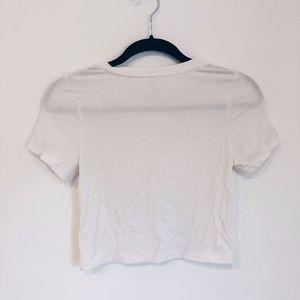 NWT LF Ribbed White T Shirt